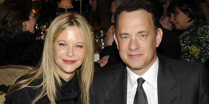 (EXCLUSIVE, Premium Rates Apply) NEW YORK - MARCH 10:  Actress Meg Ryan and Actor Tom Hanks at the 23rd Annual Rock and Roll Hall of Fame Induction Ceremony at the Waldorf Astoria on March 10, 2008 in New York City. *EXCLUSIVE*  (Photo by Kevin Mazur/WireImage)