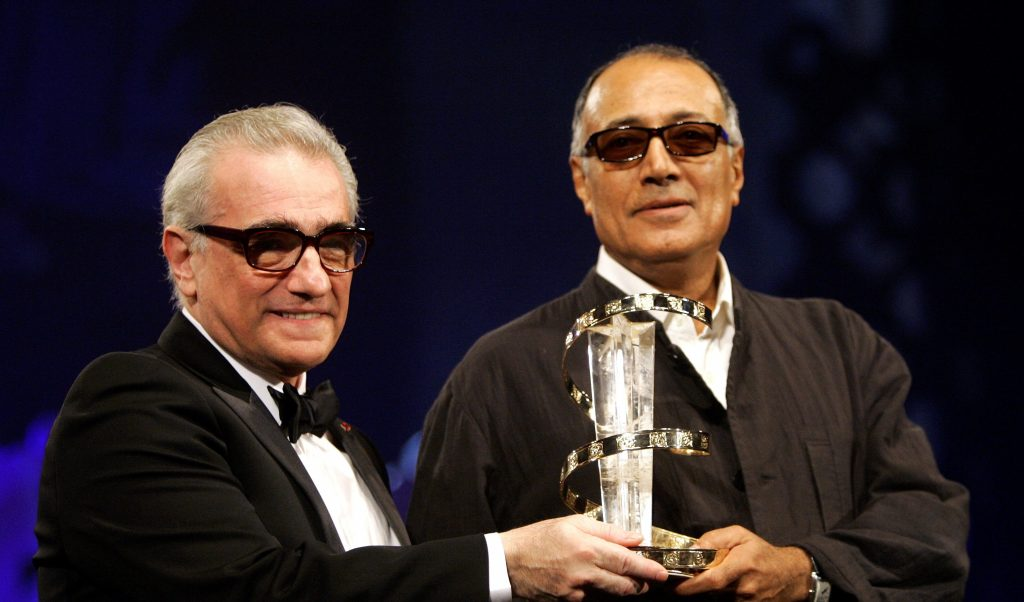Kiarostami receives an award from Scorsese during closing ceremony of the 5th Marrakesh International Film Festival